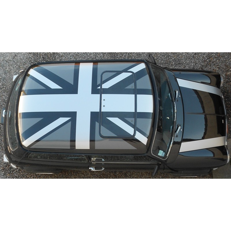 autocollant de toit union jack austin mini stickers. Black Bedroom Furniture Sets. Home Design Ideas