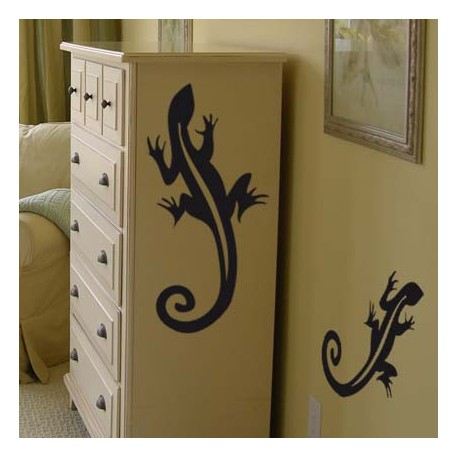 deco interieure sticker lezard animaux. Black Bedroom Furniture Sets. Home Design Ideas